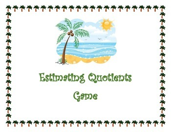 Estimating Quotients Center Game