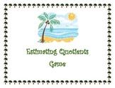 Estimating Quotients Center Game