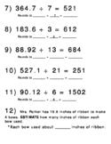 Estimating Quotients Practice