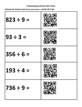 Estimating Quotients SOL 4.4