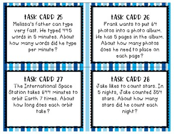 Estimating Quotients Task Cards