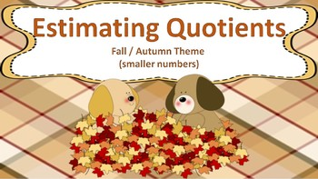 Estimating Quotients Task Cards ((Fall / Autumn Themed))