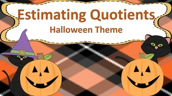 Estimating Quotients Task Cards {{Halloween Themed}}