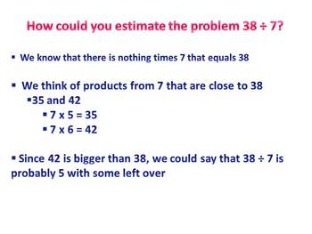 Estimating Quotients of Whole Numbers