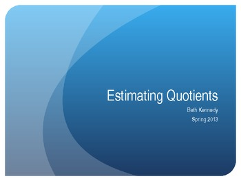 Estimating Quotients with Compatible Numbers