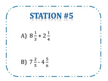 Estimating Rational Numbers Stations