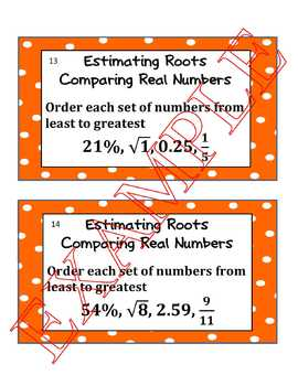 Estimating Roots and Comparing Real Numbers