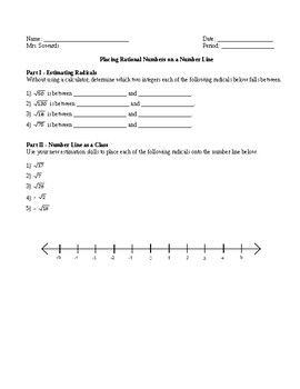 Estimating Roots and Placing on a number line