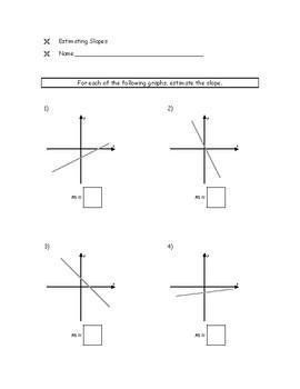 Estimating Slopes Worksheet