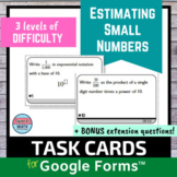 Estimating Small Numbers Digital Distance Learning Task Cards