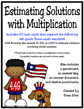 Estimating Solutions with Multiplication: 4th Grade Texas Math (TEKS 4.4G)