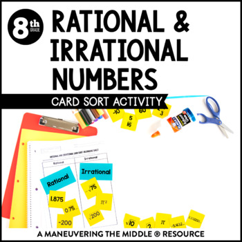 Rational and Irrational Numbers by Maneuvering the Middle | TpT
