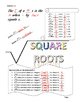 Estimating Square Roots Doodle Notes