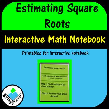 Estimate Square Roots Teaching Resources Teachers Pay Teachers