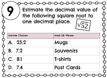 Estimating Square Roots Mad Lib