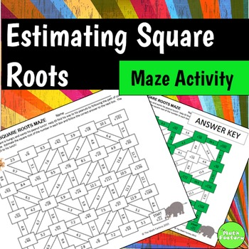 Estimating Square Roots Maze Activity by The Math Factory | TpT