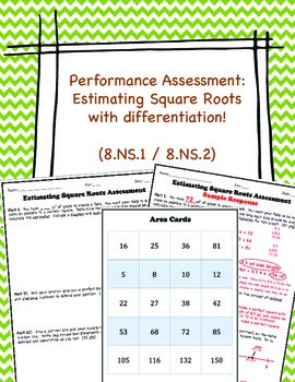 Estimating Square Roots Performance Assessment (8.NS.1 / 8.NS.2)