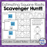Estimating Square Roots - Scavenger Hunt!