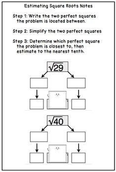 Estimating Square Roots - Scavenger Hunt!
