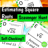 Estimating Square Roots Scavenger Hunt Activity