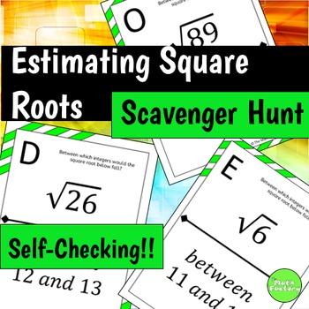 Estimating Square Roots Scavenger Hunt Activity