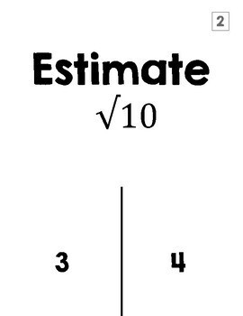 Estimating Square Roots Halloween Activity (TRICK or TREAT)