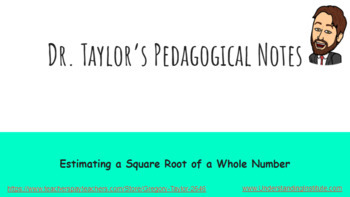 Estimating Square Roots of Whole Numbers