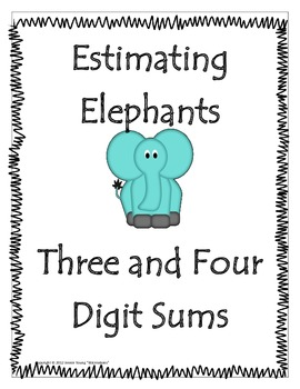 Estimating Sums - Elephant Memory Match Game
