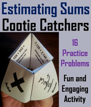 Estimating Sums Practice Game 2nd 3rd 4th Grade