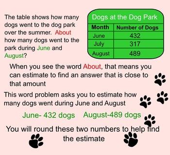 Estimating Sums-Smartboard Activity-3rd Grade Go Math!