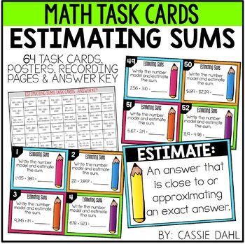 Estimating Sums Task Cards