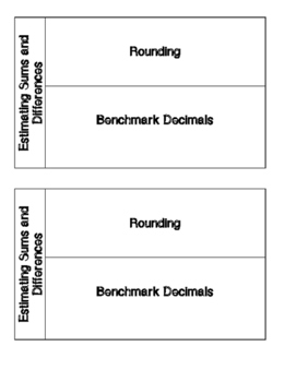 Estimating Sums and Differences (Benchmark and Rounding) Decimals