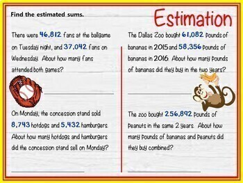 Estimating Sums and Differences - GOOGLE INTERACTIVE CLASSROOM!