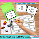 Estimating Sums and Differences Task Cards: 4th Grade Math