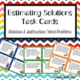 Estimating Sums and Differences Task Cards  Word Problems