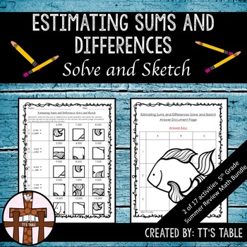 Estimating Sums and Differences Solve and Sketch