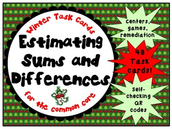 Estimating Sums and Differences - Winter Theme