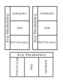 Estimating Sums and Differences iNotes
