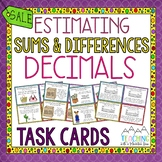 Estimating Sums and Differences of Decimals Task Cards   Google Classroom
