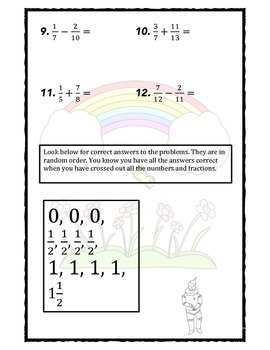 Estimating Sums and Differences of Fractions