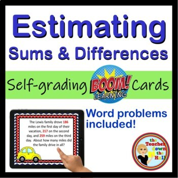 Estimating Sums and Differences to the Millions Place - BOOM Cards! (24 Cards)