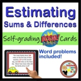 Estimating Sums and Differences to Millions Place - 24 Self-checking Boom Cards!