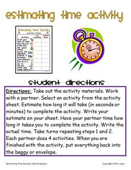 Estimating Time Activity