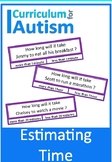 Life Skills Estimating Time Autism Special Education