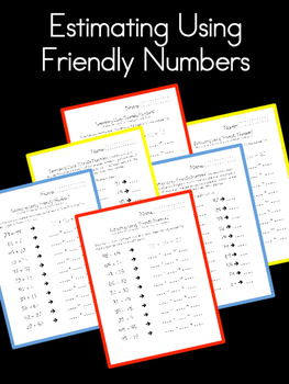 Estimating Using Friendly Numbers - (Rounding to the Nearest Ten) - Mental Math