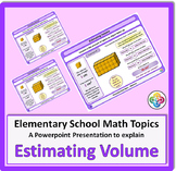 Estimating Volume for Elementary School Math Powerpoint