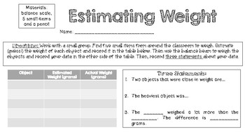 Estimating Weight