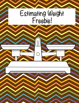 Estimating Weight Freebie!