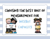 Estimating Weight Task Cards