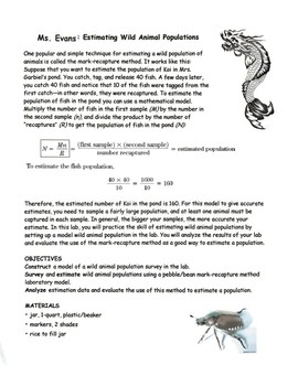 Estimating Wildlife Populations using the Mark-Recapture Mathematical Model
